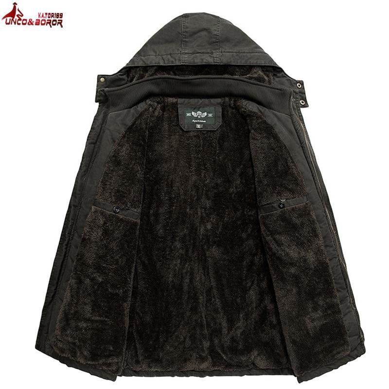 Winter jacket men Thick Warm Parka coat outwear men`s windbreaker 6XL 7XL 8XL Multi-Pocket Cargo Fur Hooded Brand clothing