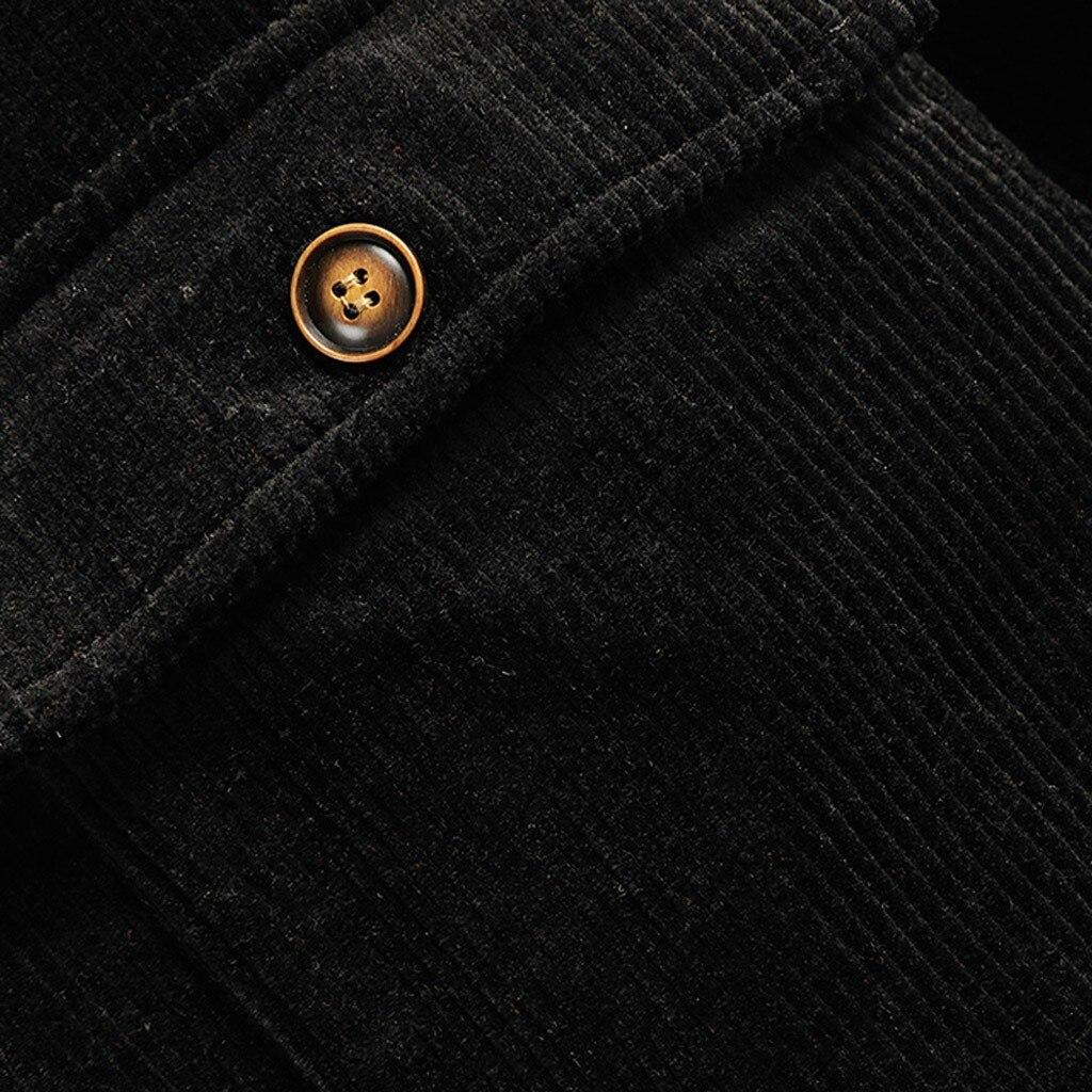 Vintage Corduroy Jacket Men Hip Hop Streetwear Mens Casual Autumn Winter Warm Turn-down Collar Jacket Coat chaqueta hombre z1009
