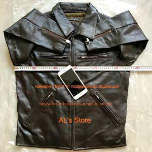 1614 SUPER OFFER!  Read Description! Asian size air force flight A1 pilot cow leather jacket genuine cowhide leather jacket