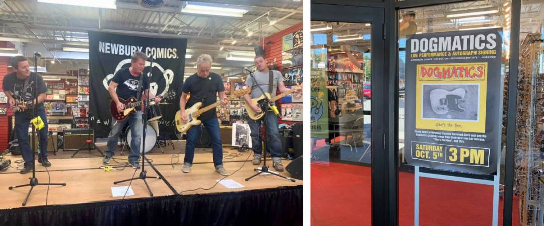 The Dogmatics Live Performance at Newbury Comics Norwood October 2019