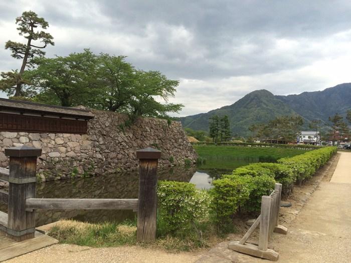 松代城本丸内堀と石垣