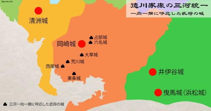 徳川家康の三河統一