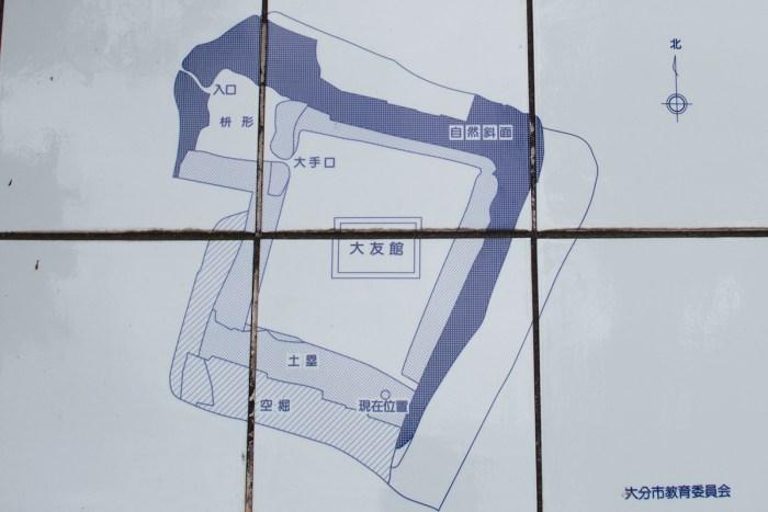 上原館の縄張り図
