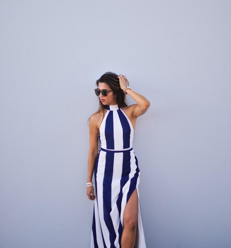 cuppajyo_fashion_lifestyle_travel_blogger_sanfrancisco_california_clarins_fameandpartners_nighttime_nautical_stripes_backless_maxidress_weddingguestfashion_4