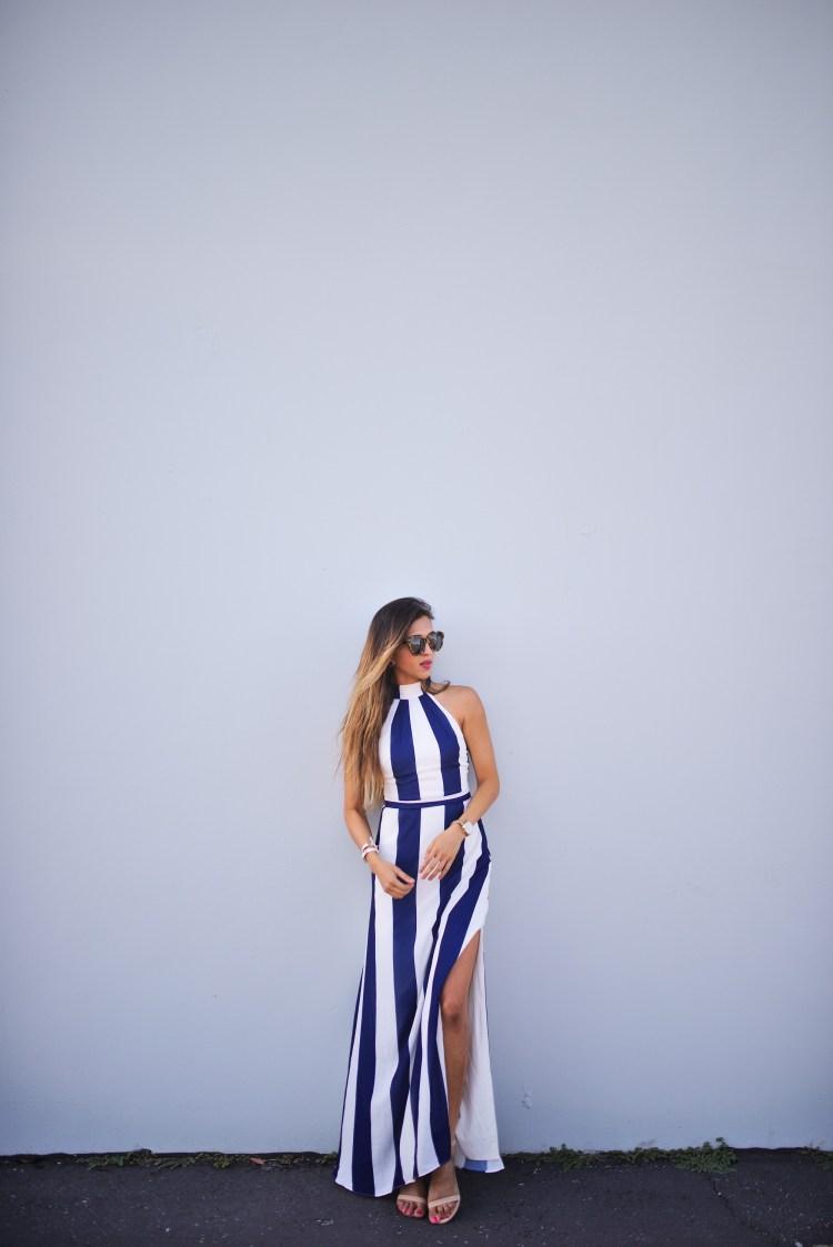 cuppajyo_fashion_lifestyle_travel_blogger_sanfrancisco_california_clarins_fameandpartners_nighttime_nautical_stripes_backless_maxidress_weddingguestfashion_6