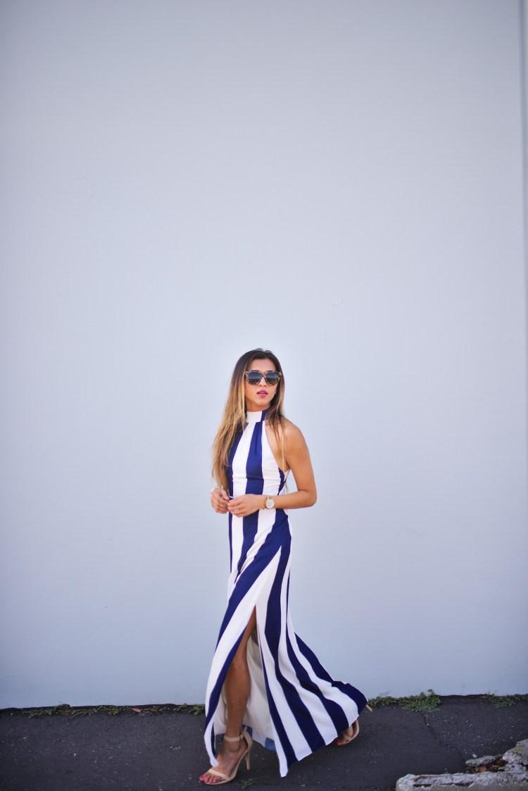cuppajyo_fashion_lifestyle_travel_blogger_sanfrancisco_california_clarins_fameandpartners_nighttime_nautical_stripes_backless_maxidress_weddingguestfashion_7