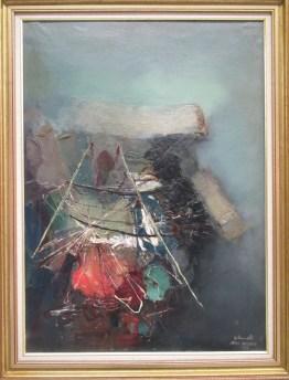Mekki MEGARA, Profundidad, 1964, Technique mixte sur toile, Collection particulière