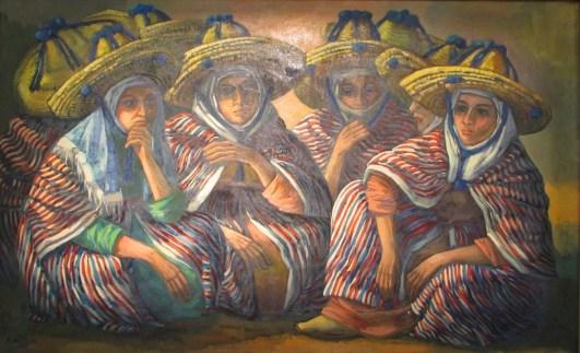 Meriem MEZIANE, Cinq femmes assises