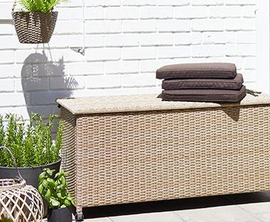 outdoor storage furniture cushion