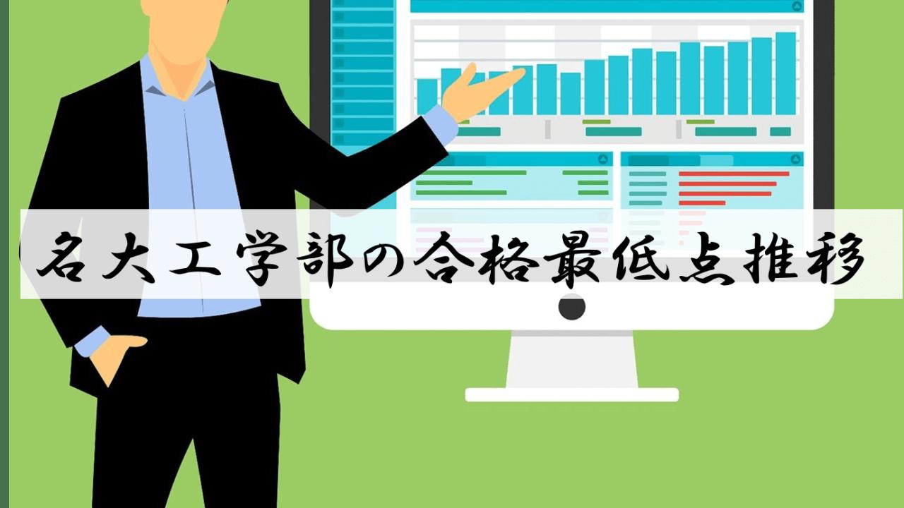 名古屋大工学部の合格最低点推移