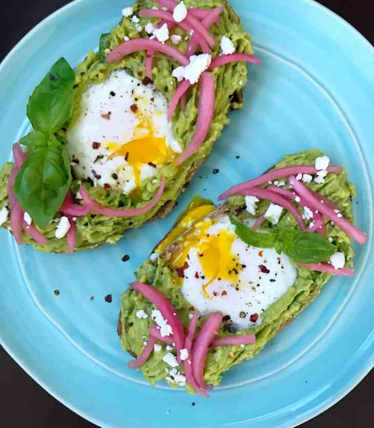 Egg in hole avocado toast