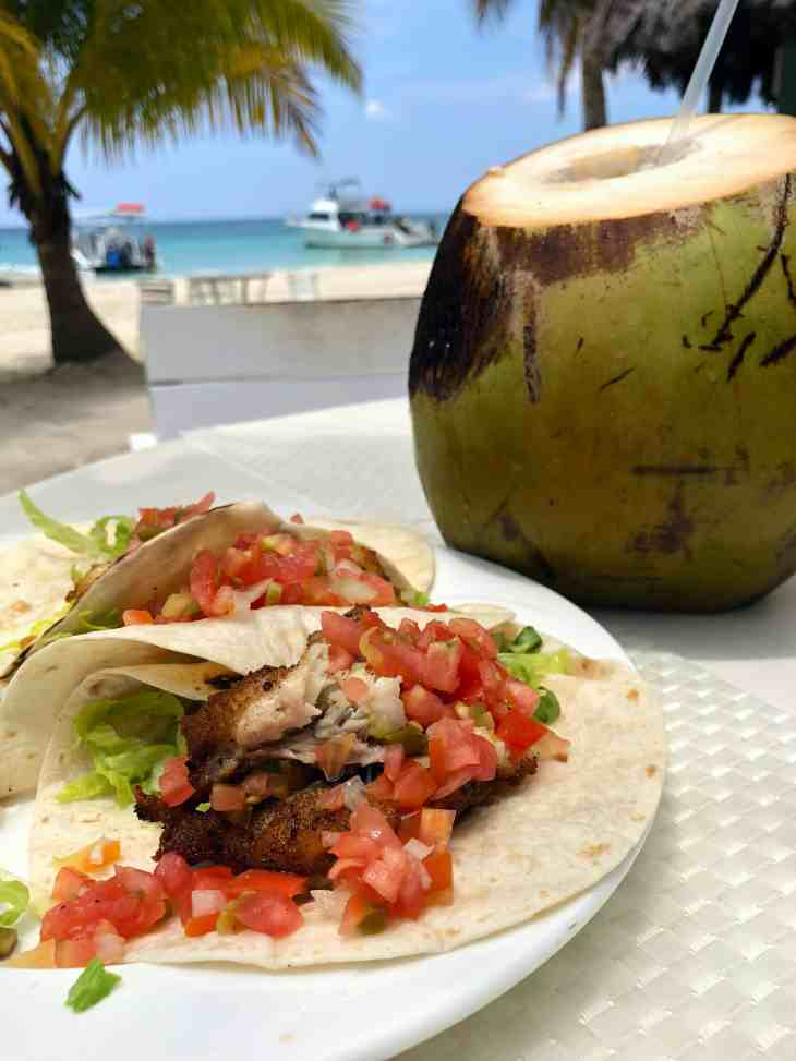 Fish Tacos at Couples Swept Away on the 7 Mile Beach in Negril, Jamaica