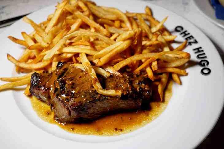 Steak Frites from Baltimore French Restaurant Chez Hugo in Baltimore