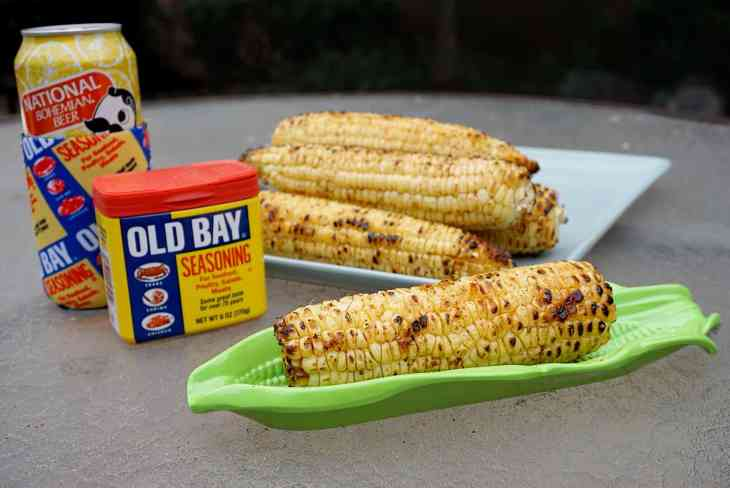 Grilled Corn On The Cob With Old Bay
