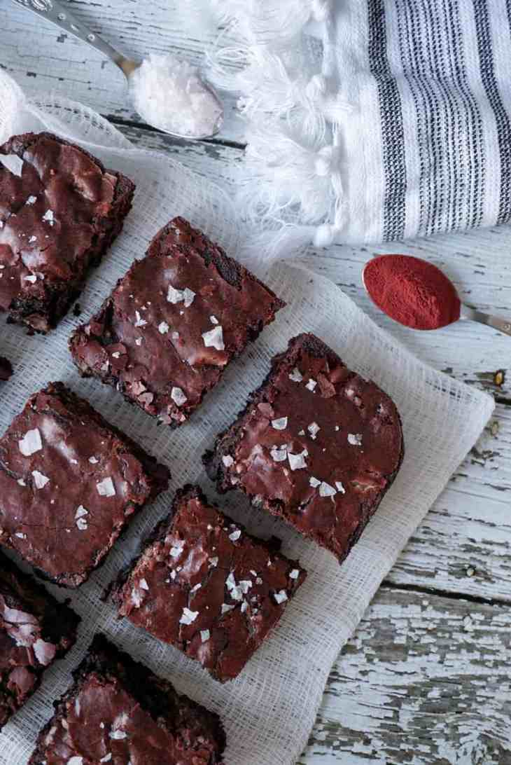 Heart Beet Valentine's Day Homemade Brownie Recipe 6