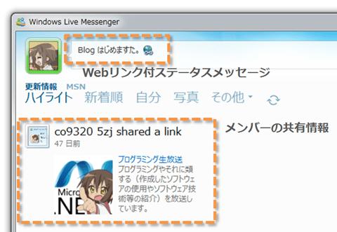 Messenger 共有