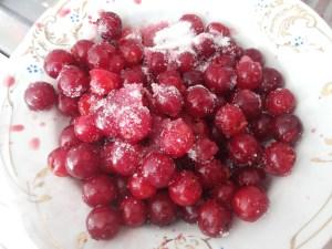 Подготовка начинки (вишни без косточек)