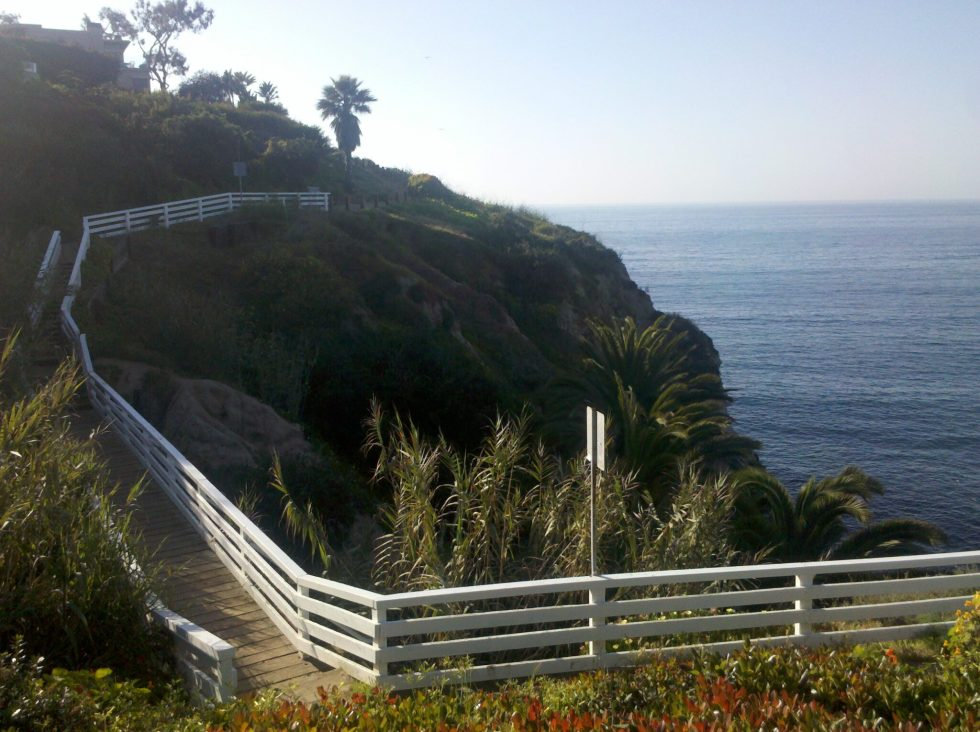 La Jolla Village Coast Trail Cliff bridge