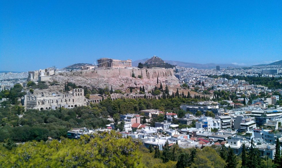 The Acropolis above Athens