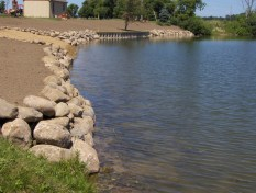 Large Boulder Sea Wall Project