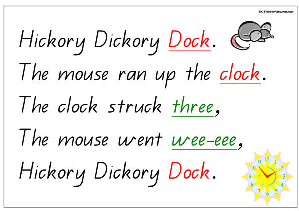 Hickory Dickory Dock Nursery Rhyme