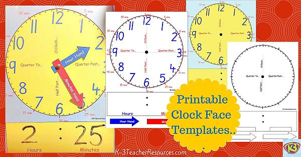 free printable clock template