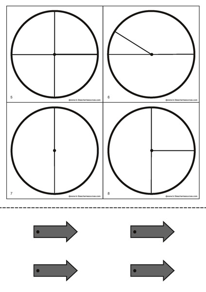 Printable Spinner Template Probability Spinners Blank 4topage Page