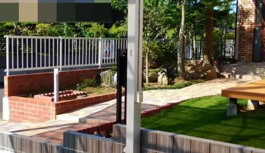 インターロッキングのアプローチ・庭造り