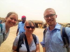 K in Motion Travel Blog, Anna, David and I near Senegal Border
