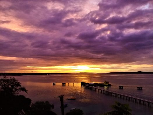 K in Motion Travel Blog. Natural Wonders of West Timor. Cafe Tebing Sunset With  Purple Sky