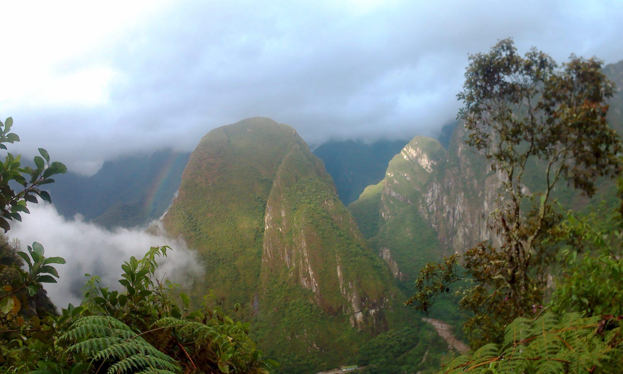 K in Motion Travel Blog. Mountain Rainbow at Machu Picchu, near Aguas Calientes, Peru