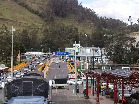 K in Motion Travel Blog. Ecuador - Journey to the Middle of the World. Ecuadorian side of Rumichaca border