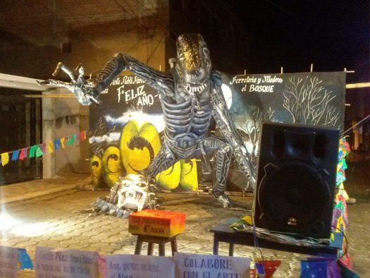 K in Motion Travel Blog. Baños - A Crazy Little Town in Ecuador. Performance Area In Banos, Ecuador