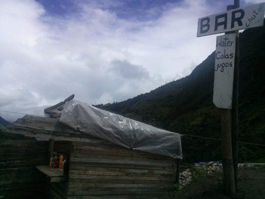 K in Motion Travel Blog. Baños - A Crazy Little Town in Ecuador. Bar on the hiking Trail from Banos to Casa del Arbor, Ecuador
