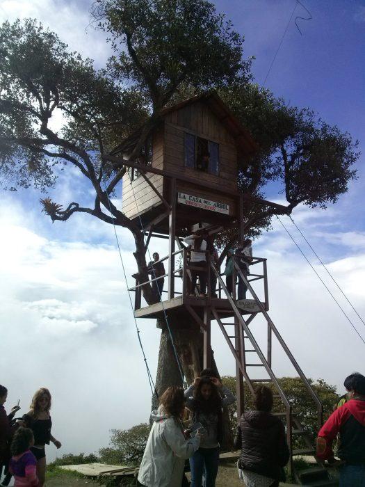 K in Motion Travel Blog. Baños - A Crazy Little Town in Ecuador. Casa del Arbol, Ecuador