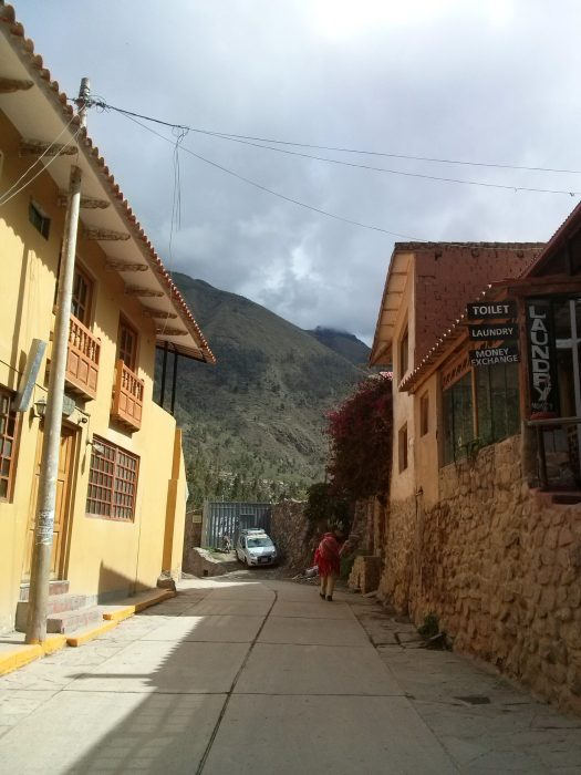 K in Motion Travel Blog. Adventures In Southern Peru. On Quiet Street in Ollantaytanbo, in the Andes, Peru