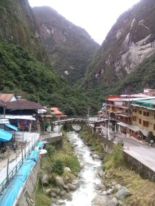 K in Motion Travel Blog. Adventures In Southern Peru. Aguas Calientes. Machu Picchu Pueblo, in the Andes, Peru