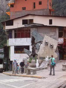K in Motion Travel Blog. Aguas Calientes. Machu Picchu Pueblo. Market Building, in the Andes, Peru