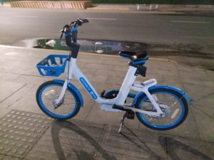 K in Motion Travel Blog. Travelling to Western China. Yantai, Dockless Bike