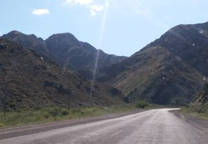 K in Motion Travel Blog. Almaty Kazakhstan. Roadside Mountains on the Way to Charyn Canyon.