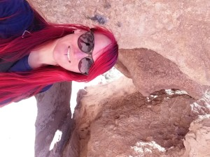 K in Motion Travel Blog. Almaty Kazakhstan. Bad Selfie on the Charyn Canyon Floor