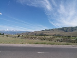 K in Motion Travel Blog. Silk Road to Southwestern Kyrgyzstan. Scenery between Balykchy and Tokmok
