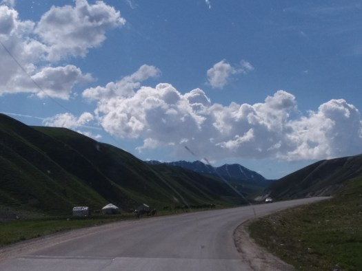 K in Motion Travel Blog. Silk Road to Western Kyrgyzstan. View From the Truck