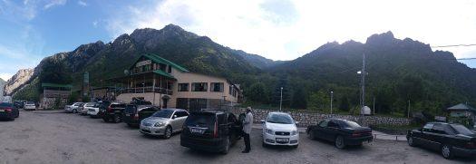 K in Motion Travel Blog. Silk Road to Western Kyrgyzstan. Truck Stop at Pelmennaya