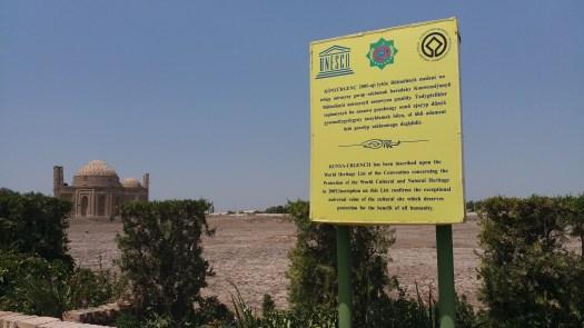 K in Motion Travel Blog. Travel to Turkmenistan - Frontier to Fire. UNESCO Mausoleums in Kunya-Urgench