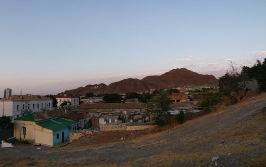 K in Motion Travel Blog. Travel to Turkmenistan - Overly Impressive Capital to Caspian Sea Port. Turkmenbashi Mountains