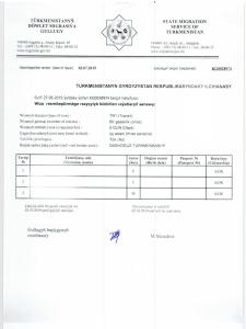 K in Motion Travel Blog. Travel to Turkmenistan - Getting the Visa. Turkmenistan Visa Invitation Letter to Present at the Border