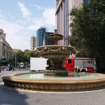 K in Motion Travel Blog. Beautiful Baku. Big Sleeping Fountain
