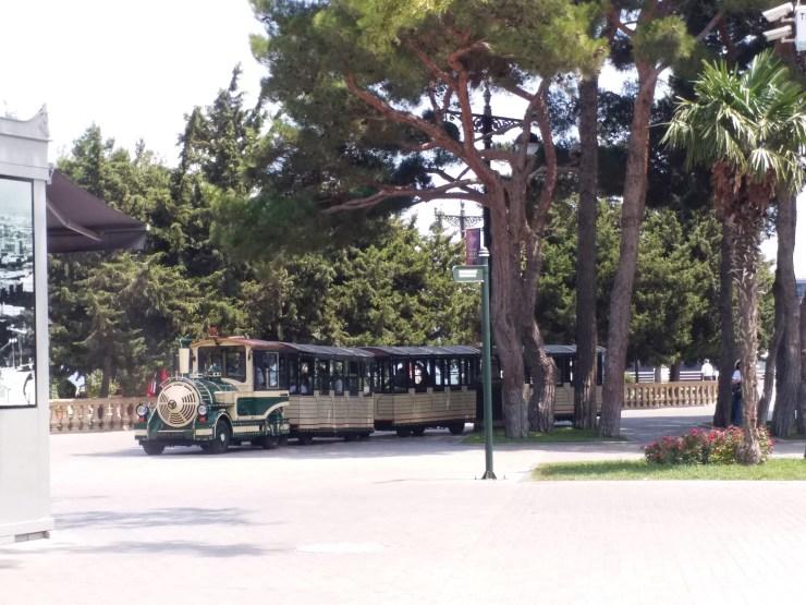K in Motion Travel Blog. Beautiful Baku. Denizkenari Milli Park Train