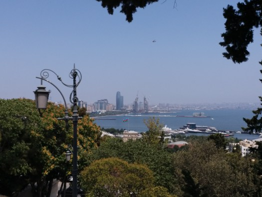 K in Motion Travel Blog. Beautiful Baku. View on the Way up to the Hill